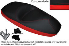 BRIGHT RED & BLACK CUSTOM FITS HONDA PANTHEON FES 125 03-07 DUAL SEAT COVER