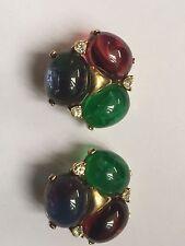 Vintage Ciner Earrings Colorful!