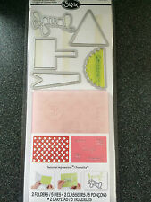 SIZZIX HAPPY HEARTS SET 5 DIES 2 EMBOSSING FOLDERS CELEBRATE HAPPINESS