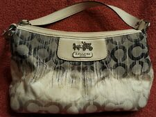 COACH Ikat Op Art Navy/Ombre Handle Pouch Shoulder Bag GUC A0993-42684
