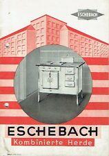 Eschebach Radeberg Prospekt Katalog Kombinierte Herde 1936 Herd