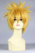 30cm Yellow NARUTO-Uzumaki Naruto Hair Anime Men Costume Party Cosplay Wig