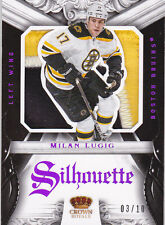 12-13 Crown Royale Milan Lucic /10 PATCH Silhouette Rookie Anthology Panini