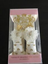 NWT Juicy Couture Novelty Baby Booties Socks with Matching Headband,Retail:$42