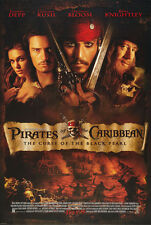 PIRATES OF THE CARIBBEAN CURSE OF THE BLACK PEARL MOVIE POSTER DS ORIG (F) 27x40