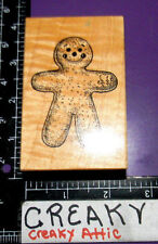 PSX GINGERBREAD MAN COOKIE RUBBER STAMP RETIRED G-396