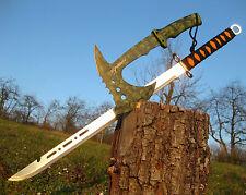 Wunderschöne leichte Zweihand Machete 70 cm + Totenkopf Axt 33 cm M001 + A012