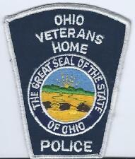 """VINTAGE OHIO VETERAN'S HOME POLICE PATCH NEW & UNUSED 3 & 1/2"""" X 4 & 1/2"""""""