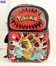 "Pokemon Pikachu All Print 16"" Large Backpack For Boys Girls Kids School Bag"