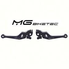 Bremshebel Set Sport MG-Biketec einstellbar Schwarz kurz CNC Vespa GTS 125-300