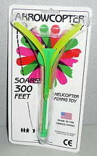 ARROWCOPTER HELICOPTER FLYING TOY Soars 300 Feet New In Package