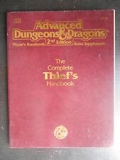 "Manuel ""AD&D TSR - 2nd Edition - the complete thief's handbook"" 1991"