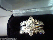 3CTW LC* DIAMOND ENGAGEMENT WEDDING ANNIVERSARY RING  SET SZ 5 + GIFT