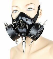 Gas Mask Spike Respirator Halloween Punk Cosplay Cyber Goth Rave Burning man