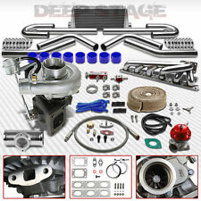 T04E T3/T4 V-BAND 9PC TURBO KIT+INTERCOOLER+MANIFOLD 92-99 BMW E36 M50/M52 I6
