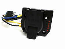 7 Way Truck End Connector Plug Built in LED Tester Female Cord Socket