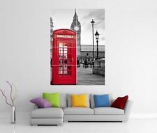LONDON SCENE RED PHONE BOX BIG BEN GIANT WALL ART PRINT PHOTO POSTER