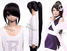 W-152 The World God Only Knows ELSIE schwarz black 105cm Cosplay Perücke Wig