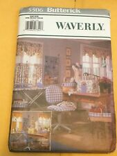 Butterick Pattern 5506 Reversible Sewing room Curtains board/chair cover liner