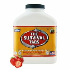 Survival Tabs Strawberry 180-tabs 100% USDA Camping Food Meal 15 Days Supply