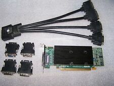 Matrox M9140 Low Profile Quad Monitor 512MB PCIe x16 DVI/VGA Graphics Card