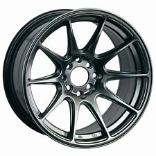 "17X8.25"" XXR 527 WHEELS 4X100/114.3 RIM CHROMIUM BLACK FITS MIATA CELICA FIT"