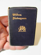 Vintage Miniature Book Leather Bound William Shakespeare Much Ado About Nothing