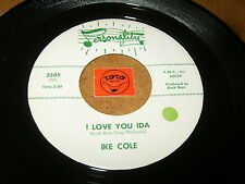 IKE COLE - I LOVE YOU IDA - I'M GETTING MIGHTY LONESOME - LISTEN - ROCK POPCORN