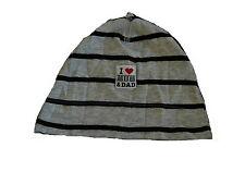 H & M tolle Mütze Gr. 56 grau-schwarz geringelt !!