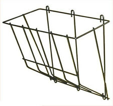"1/4"" ROD BLACK POWDER COATED STEEL WALL MOUNT HAY RACK GOATS SHEEP SMALL HORSES"