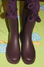 Dirty Laundry Rah-Rah Cable Kni Purple  Womens Rubber Rain Boots Size 9M/New