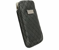 Krusell Coco Leather Mobile Phone Pouch Case Black - Fits iPhone 4 Nicely