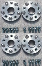 Wheel Spacer Adapters 15 mm 5x112 To 5x114.3 4 PCS + Low Profile Bolts AUDI VW