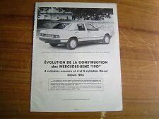 REVUE TECHNIQUE évolution MERCEDES 190 ESSENCE et DIESEL depuis 1986