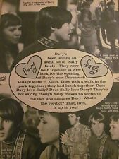 Davy Jones, The Monkees, Sally Field, Full Page Vintage Clipping