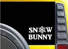 Snow Bunny K645 8 inch Sticker mask decal