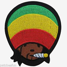 Rasta Reggae Jamaica Marley Africa Hemp Weed Peace Hippie Iron on Patch #1387
