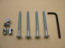 Lit/cot bolts 4 sets of M6 x 75mm boulon, allen clés & 14mm baril écrou = 9 objets