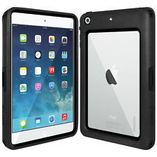 AMZER BLACK SHELL CRUSTA RUGGED CASE WITH TEMPERED GLASS FOR APPLE iPAD MINI 3