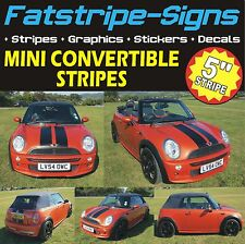 MINI CONVERTIBLE STRIPES GRAPHICS MINI ONE COOPER S JOHN COOPER WORKS DECALS JCW