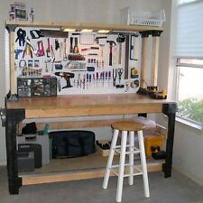 DIY Custom Workbench Storage Wooden Shelf Garage Shop Workshop Table Bench Kit