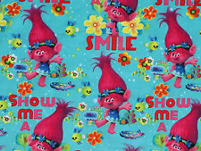 "14"" REMNANT  TROLLS  DREAMWORKS TROLL POPPY TRUE COLORS BEAUTIFUL  COTTON FABRIC"