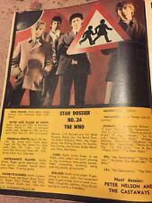 Vintage 1966 The Who Colour Poster March 22 Everybody's Magazine Australia