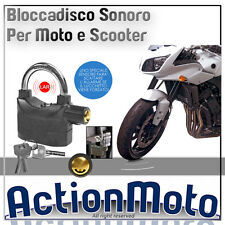 DISC BLOCK WITH ALARM SOUND FOR MOTORCYCLES AND SCOOTERS DISC LOCK