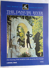 ms Funchal & ms Rousse . 1985 Brochure Cruise Ship Danube River North Cape V485