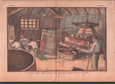 PRESSOIR A VIN Wine press Kelter Prensa de vino  FRANCE  ILLUSTRATION 1933