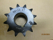 "NEW, 50B12 SPROCKET, 1"" BORE SIZE, KEYWAY, 2 SET SCREW."