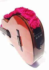 """GUITAR STRAP KID SIZE HOT PINK ORGANZA roses 2"""" by: Capturing Couture KID20-HPRS"""