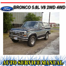 FORD BRONCO 5.8L V8 2WD 4WD 1980-1986 WORKSHOP SERVICE REPAIR MANUAL ~ DVD