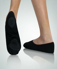Body Wrappers 246A Adult Size 8M Black Canvas Split Sole Ballet Slipper